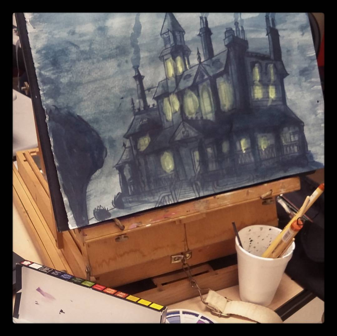 Old Mansion, paint process