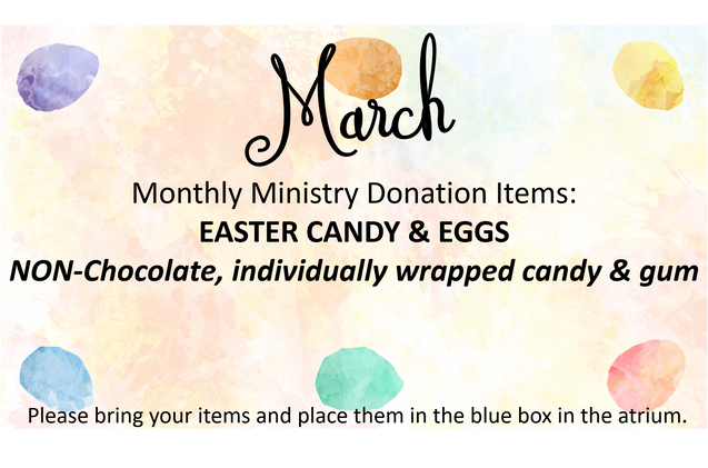 March Donations