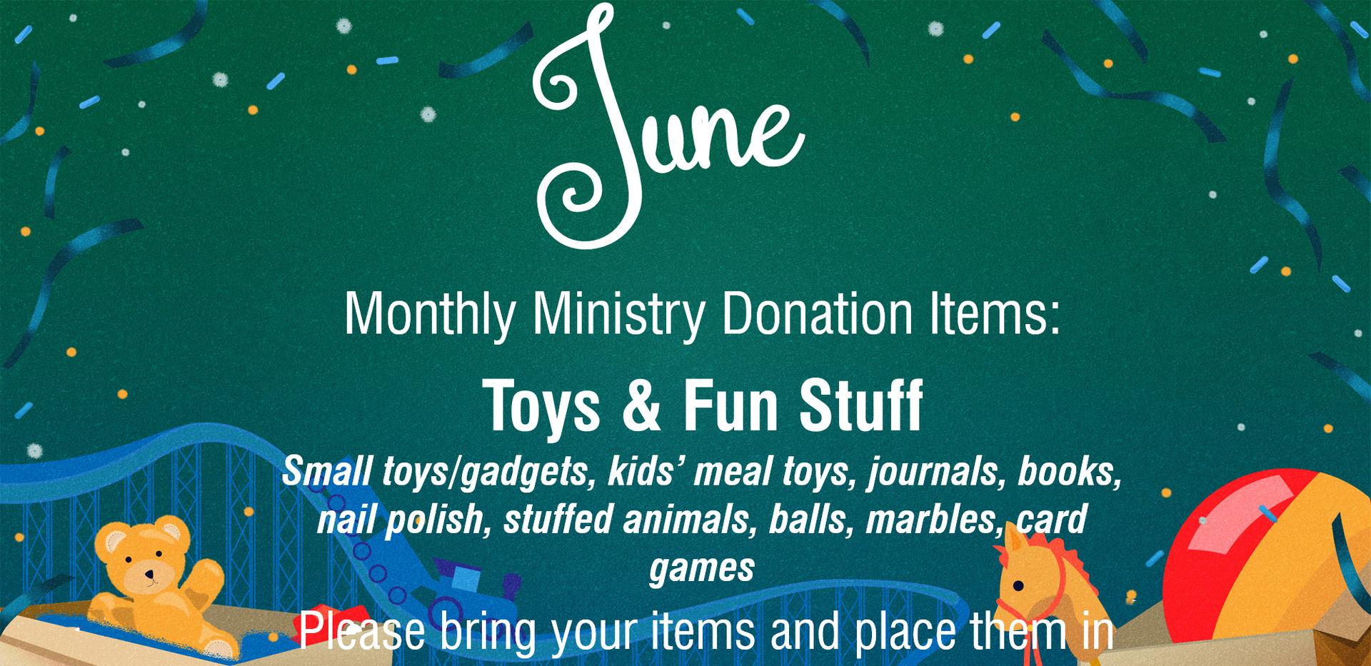 June Donations