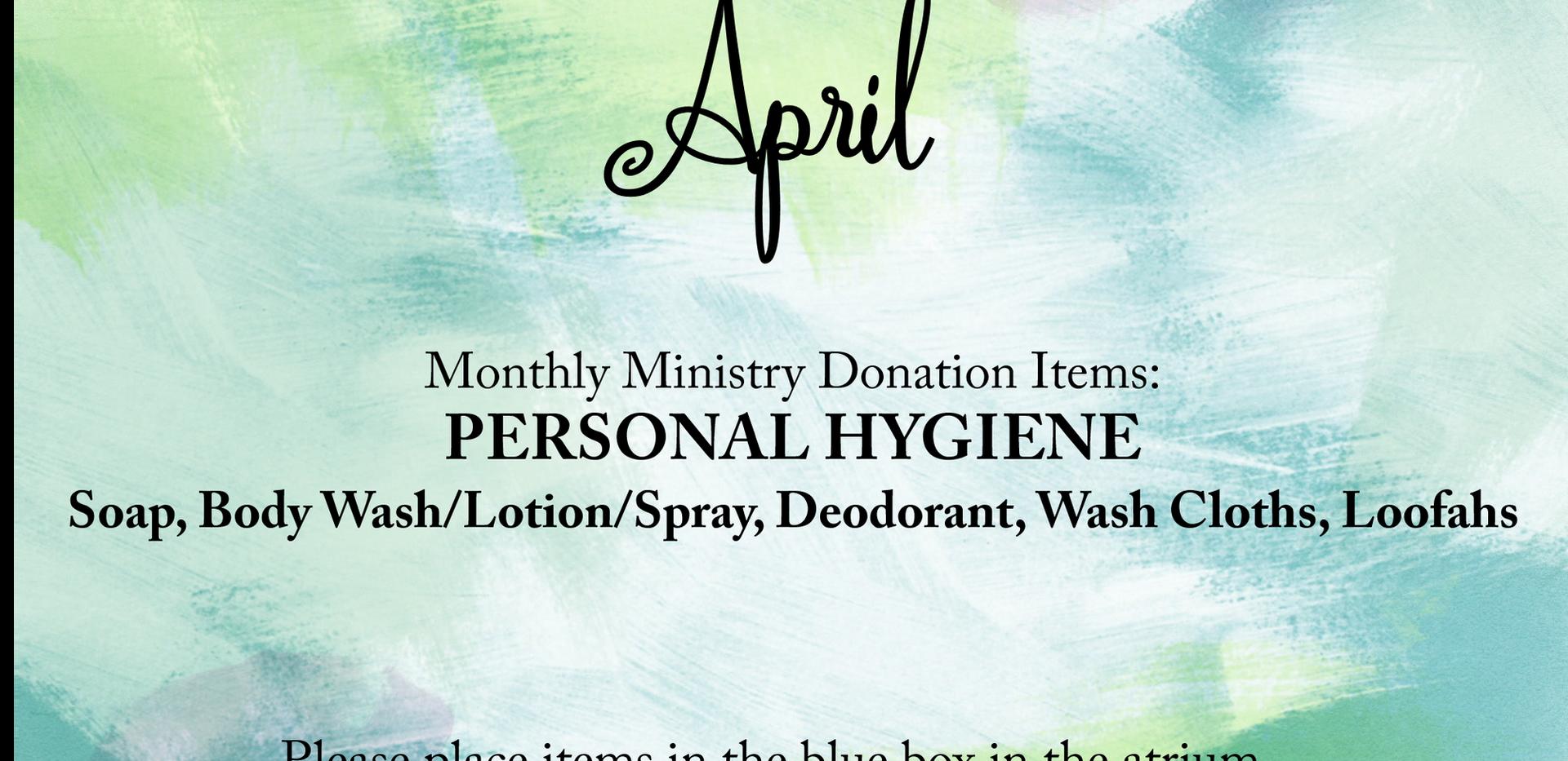 April Donations