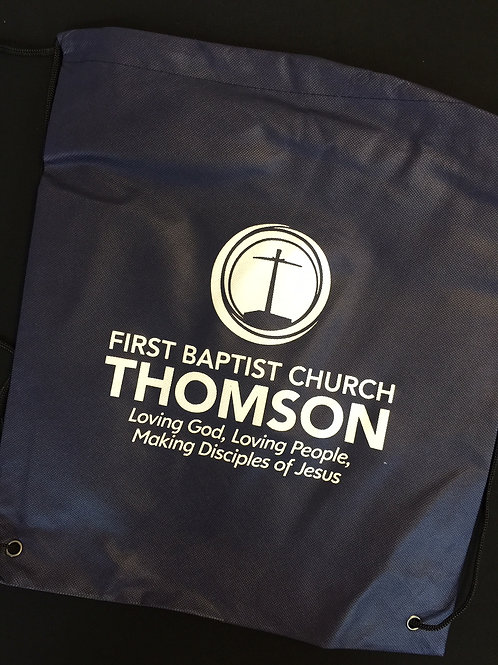 Drawstring Bag, FBC Thomson GA