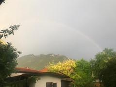 Regenbogen vor dem Laber Berg