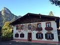 Das Mussldomahaus mit Ferienwohnungen mit Bergblick in Oberammergau
