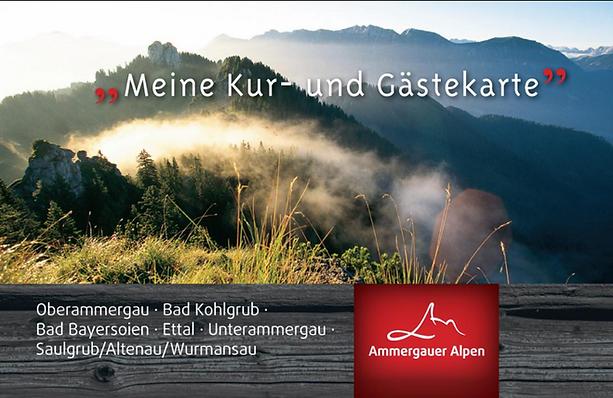 Gästekarte Oberammergau guest card Oberammergau