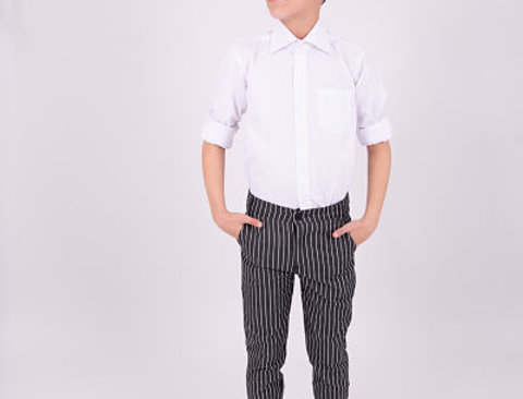 מכנס דמוי ג'ינס פסים