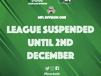 Leagues Suspended Until 2nd December