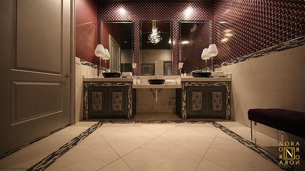 Incredible interior design of a ballroom by commercial designer Nora Sandoval of Nora Design Showroom in