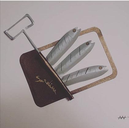 morgane veyssiere, sardine en folie