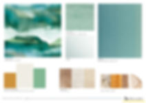 planche couleurs et matieres vert rotin