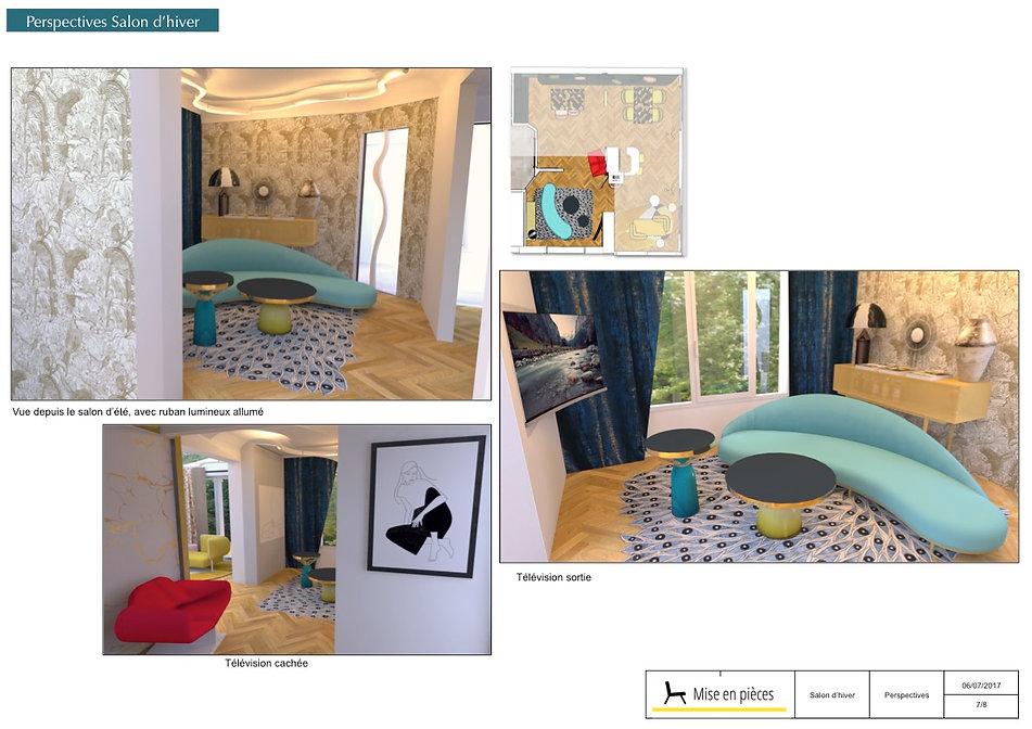 vus 3D décoratrice salon séjour d hiver