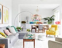 sejour coloré décoration intérieure