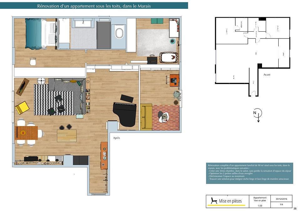 vue en plan apartement décoration agencement plan d implantation
