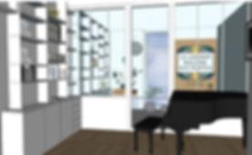 vue 3D appartement marais déco