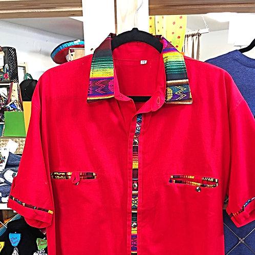 Men's Serape Button Down Guayabera