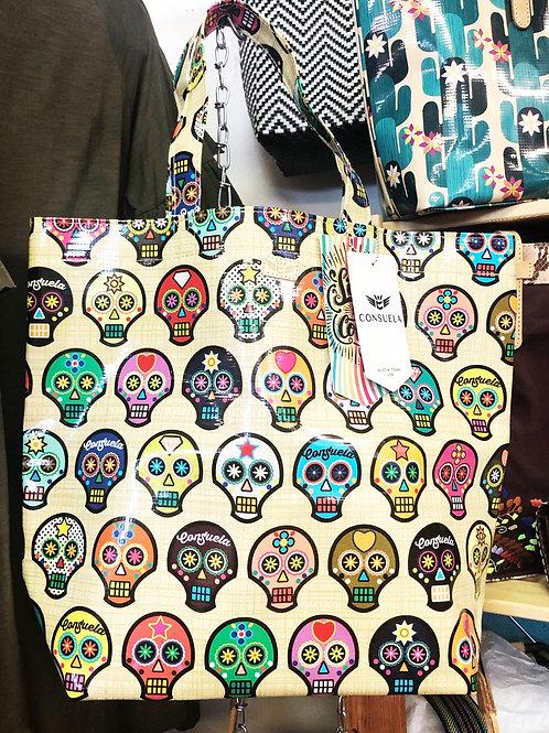 Consuela Market Tote (Sugar Skull) - Free Shipping