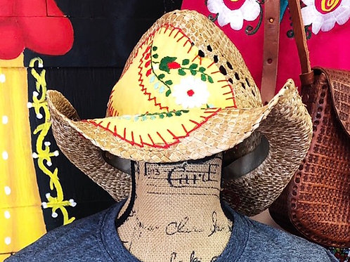 Embroidered Cowboy Hat - One Size
