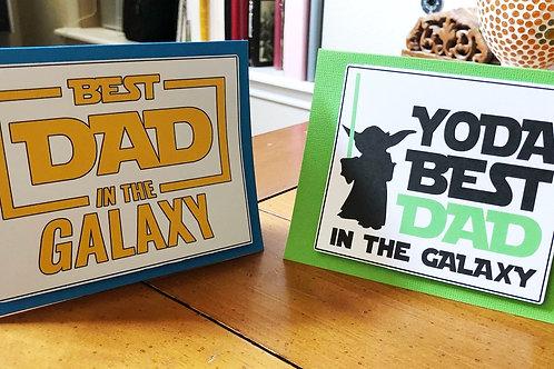 Dad Galaxy Greeting Cards
