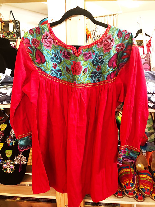 Red Mexican Blouse - Free Shipping