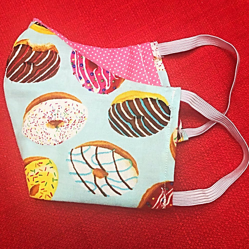 Face Mask With Filter Pocket (Donut Print) - Free Shipping