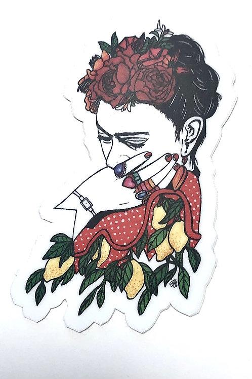Frida Pose Sticker Decal