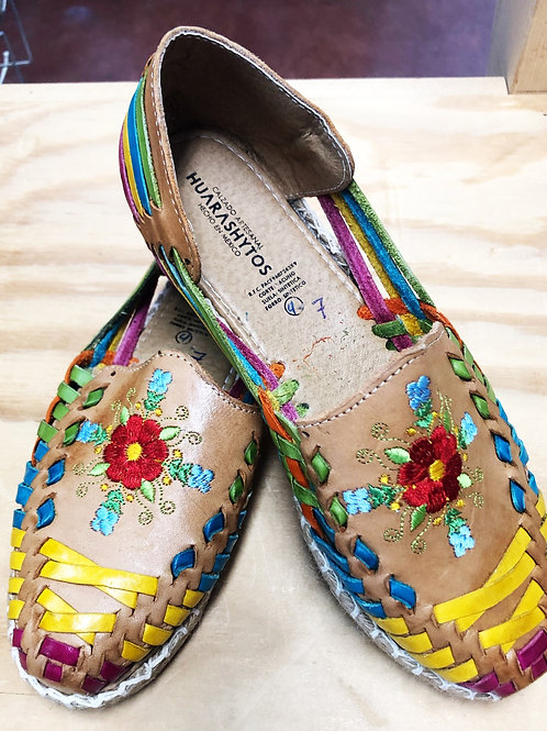 Leather Embroidered Shoes/Sandals - Free Shipping