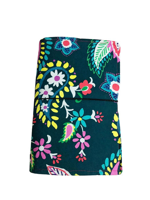 Green Floral Fabric Journal  - Free Shipping