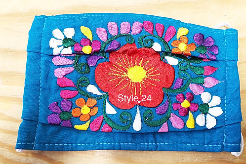 Floral Embroidered Face Masks With Filter Pockets