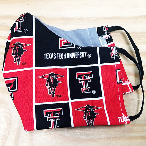 Face Mask With Filter Pocket (Texas Tech) - Free Shipping