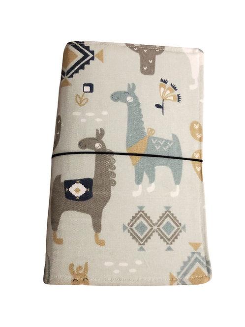 Grey Llama Fabric Journal  - Free Shipping