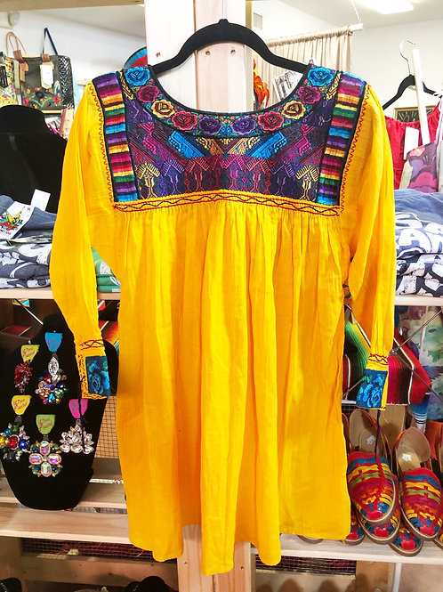 Deep Yellow Mexican Blouse - Free Shipping