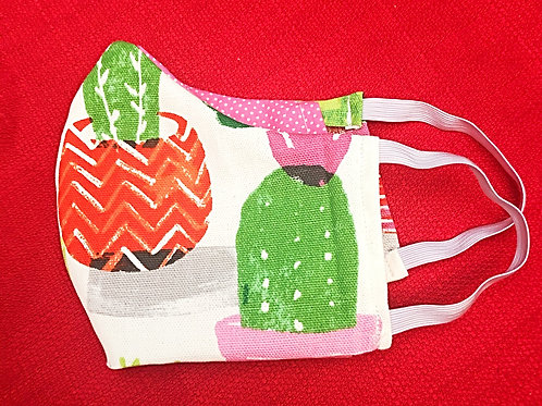 Face Mask With Pocket (Cactus)- Free Shipping