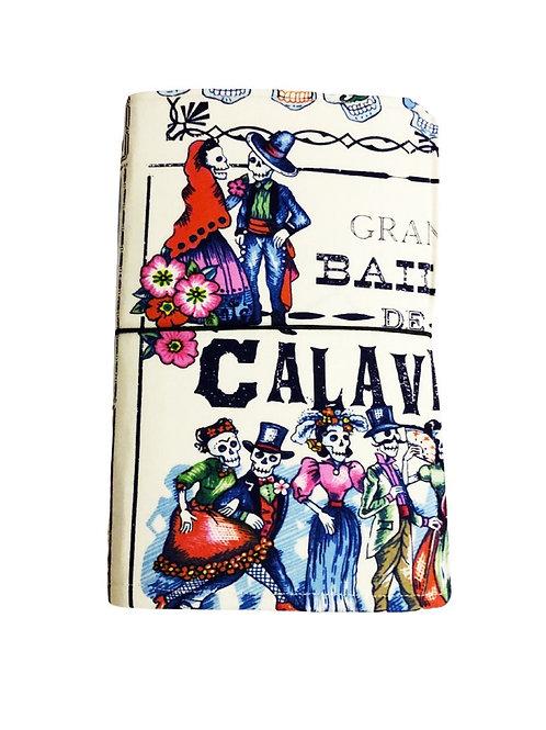 Calavera Fabric Journal  - Free Shipping