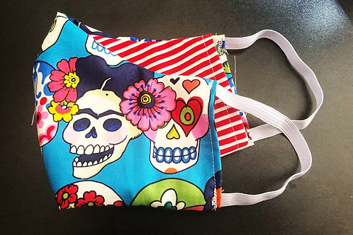 Face Mask With Filter Pocket (Frida Print) - Free Shipping
