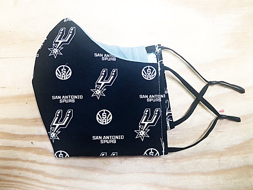 Spurs Black and Grey Face Mask With Filter Pocket  - Free Shipping