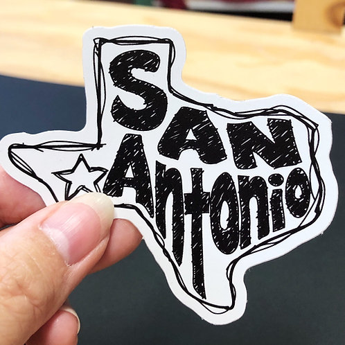 San Antonio Texas Sticker Decal