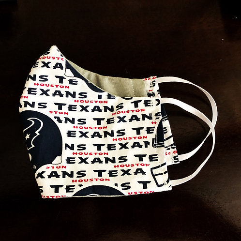 Texans Face Mask With Filter Pocket - Free Shipping