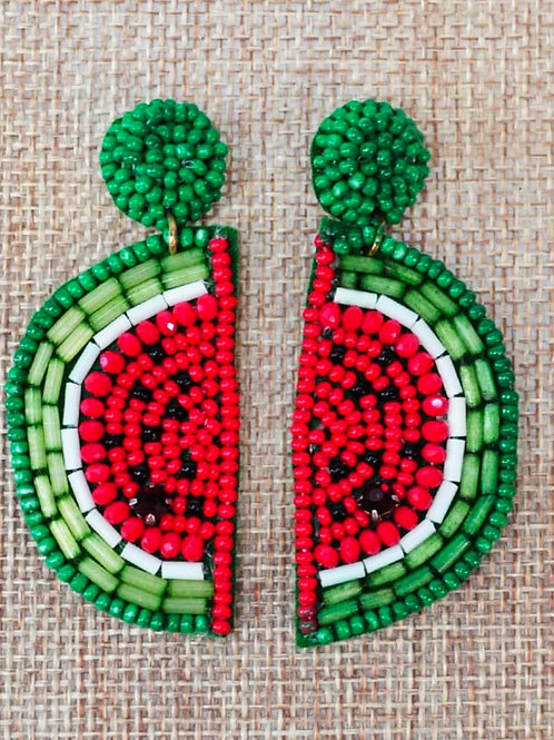 Watermelon Earrings  - Free Shipping