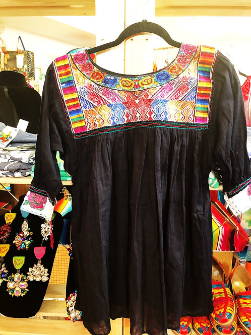 Black Mexican Blouse  - Free Shipping