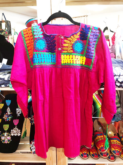 Pink Mexican Blouse - Free Shipping