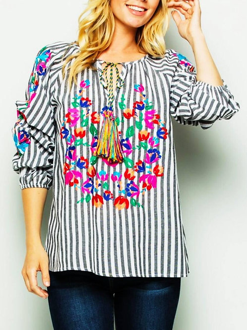 Embroidered Top - Free Shipping