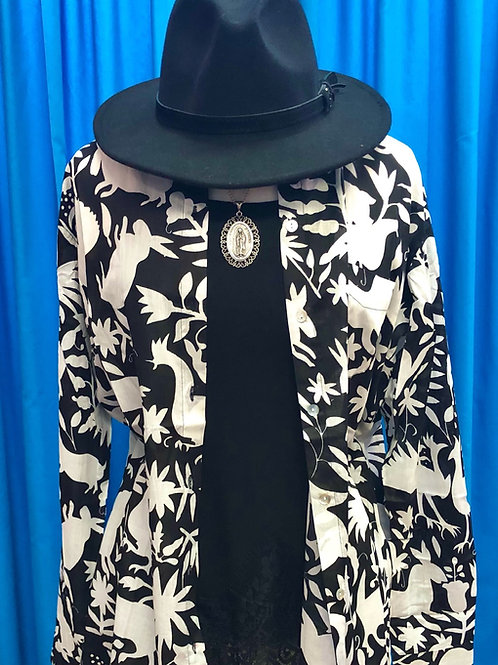 Black and White Otomi Blouse