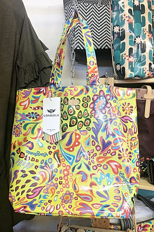 Consuela Market Tote (Green Swirl) - Free Shipping