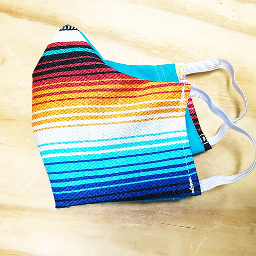 Face Mask With Filter Pocket (Serape Print) - Free Shipping