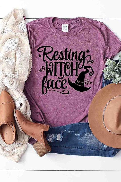 Resting Witch Face T-Shirt - Free Shipping