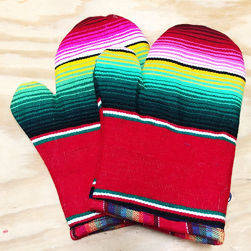 Serape Oven Mitts - Free Shipping