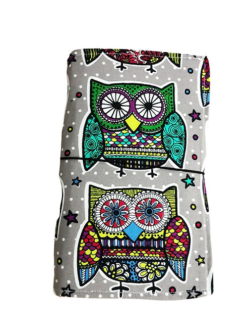 Funky Owl Fabric Journal  - Free Shipping