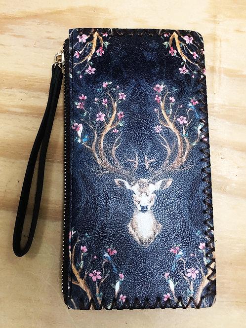 Black Deer Wallet Wristlet - Free Shipping