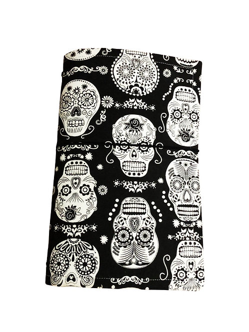 Skull Fabric Journal  - Free Shipping
