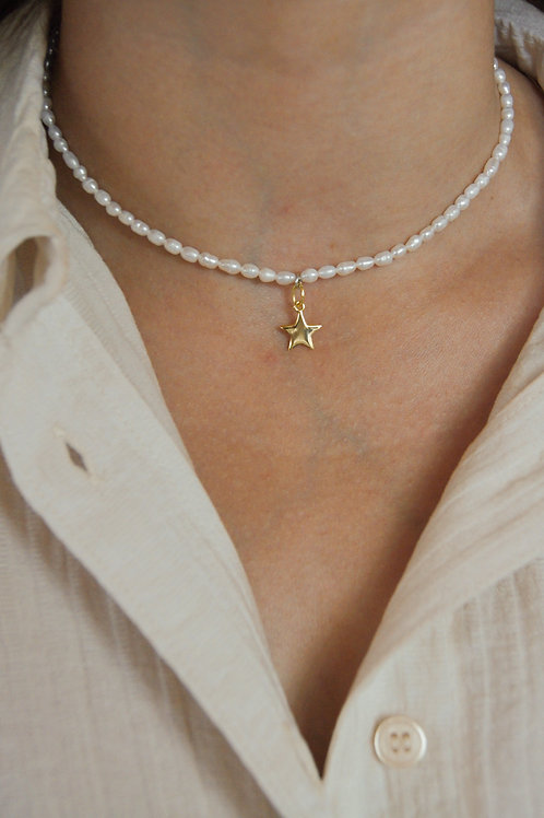 Isla Rice Pearl Necklace