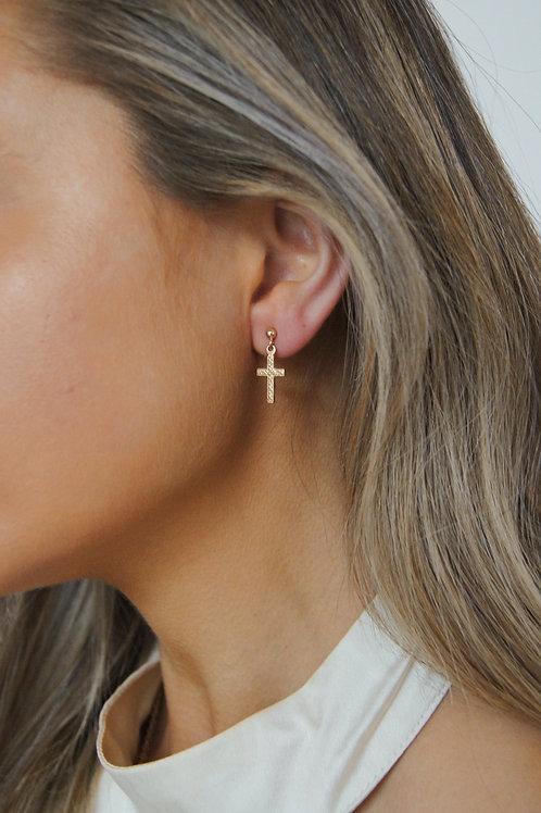 Maeve Cross Earring